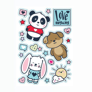 Stuffed Animals Sticker Sheet