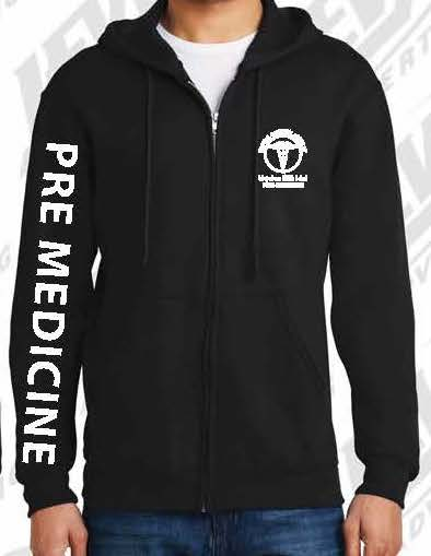 Pre-Medical Academy Zip-Up Hoodie
