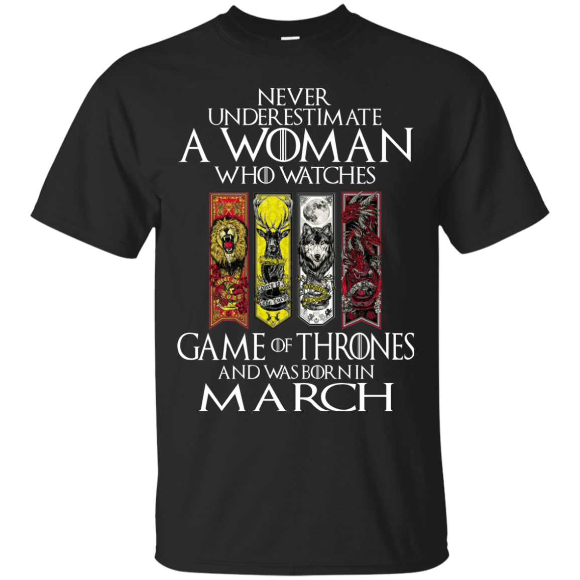 002261fd Never Underestimate A Woman Who Watches Game Of Thrones And Was Born I -  TeeDragons