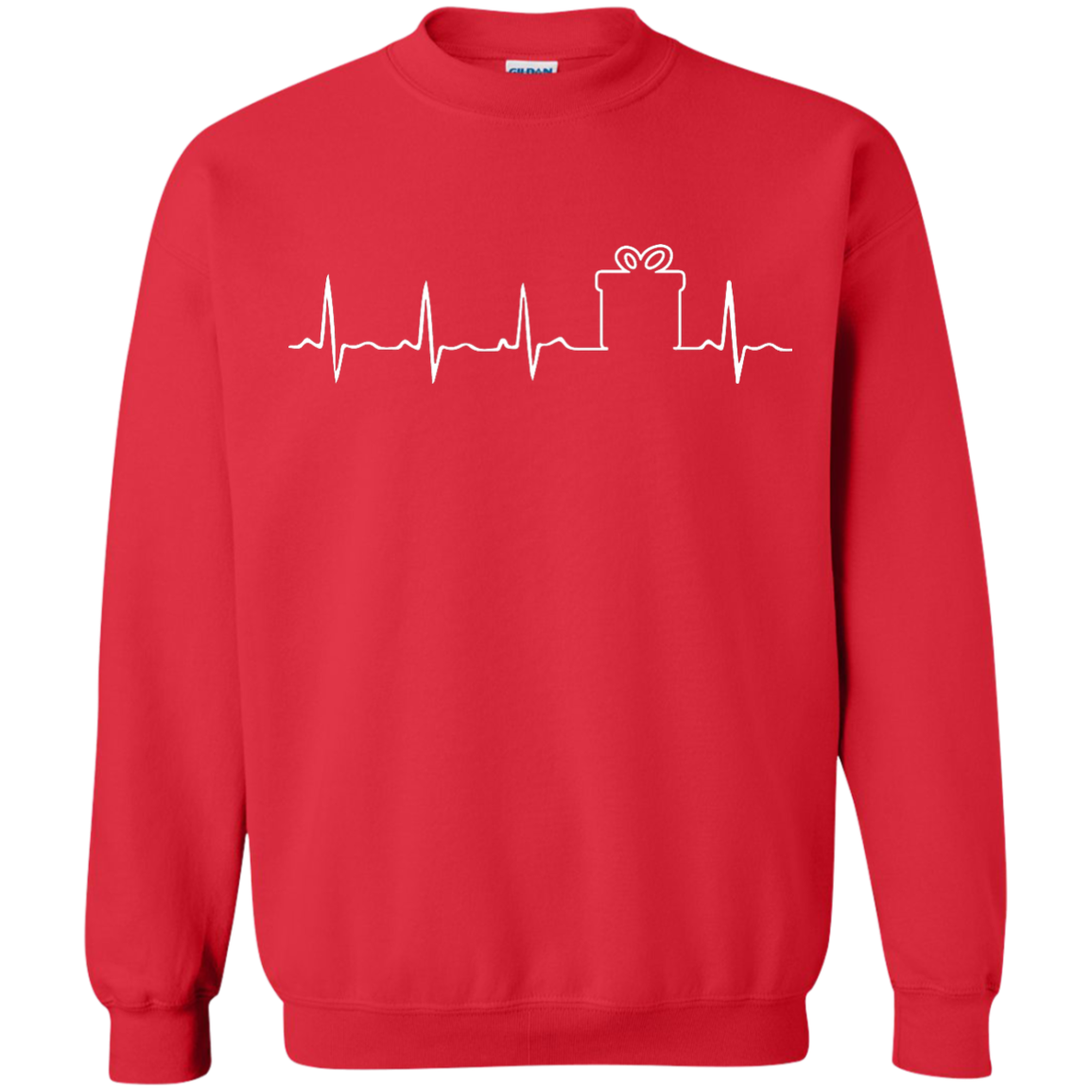 Christmas Gift Box Heartbeat T Shirt Hoodie Tank