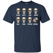 Skulls of Modern America    All people was created equal except Liberal skull shirt