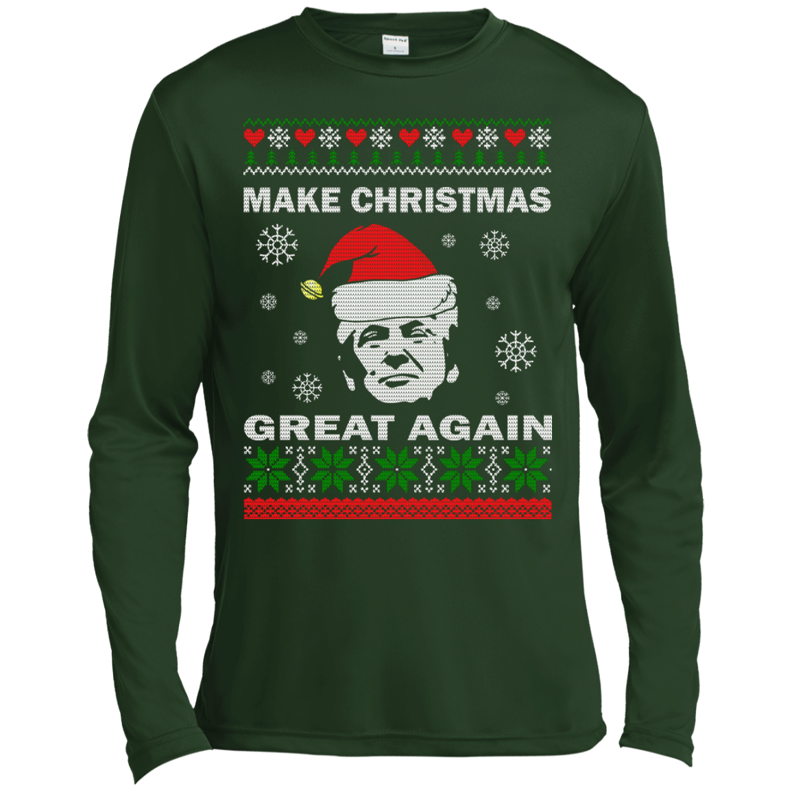 donald trump make christmas great again shirt hoodie ugly teedragons