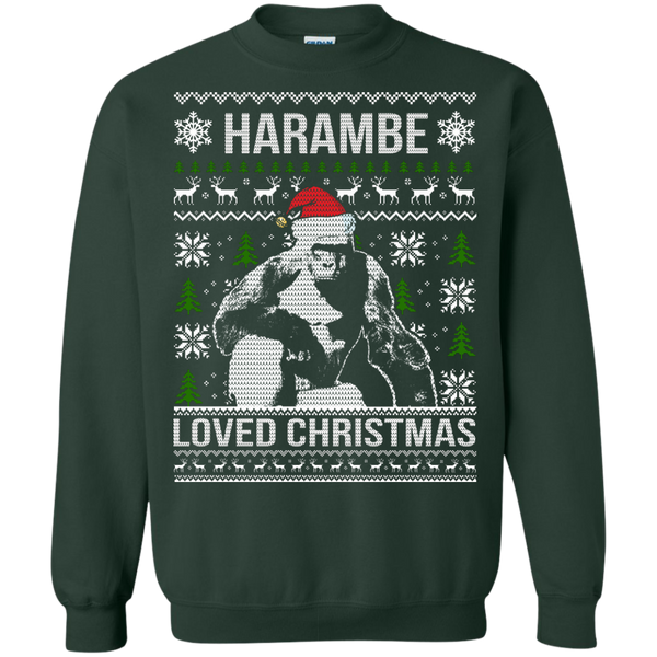 Harambe Loved Christmas Sweater, Shirt, Hoodie