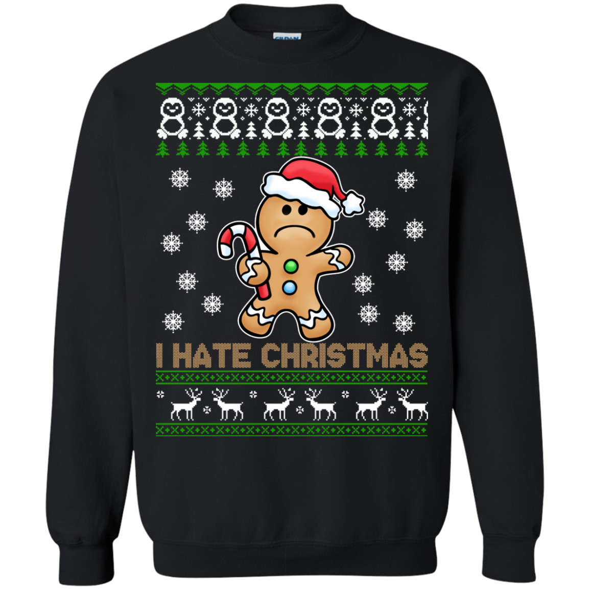 Gingerbread Man – I Hate Christmas Sweater