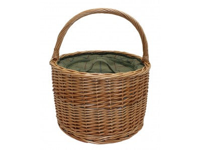 round tweed hiller basket