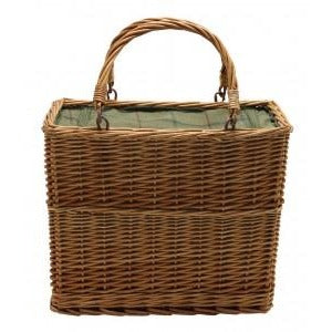 chiller basket for willow picnic or shopping  green tweed