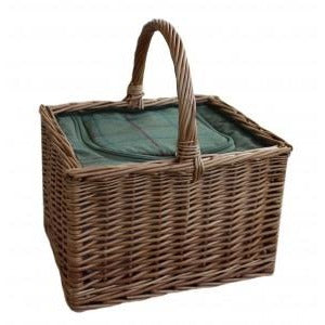 green tweed butchers cooler basket