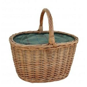 oval willow chiller basket for shopping of picnic