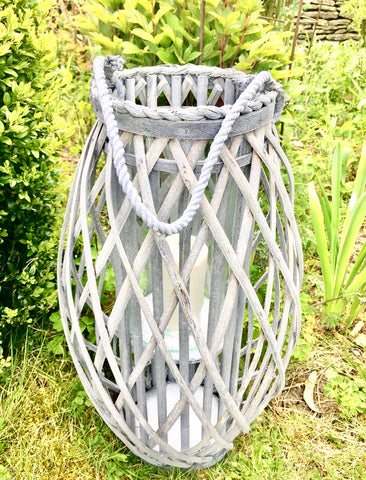 braided willow lantern