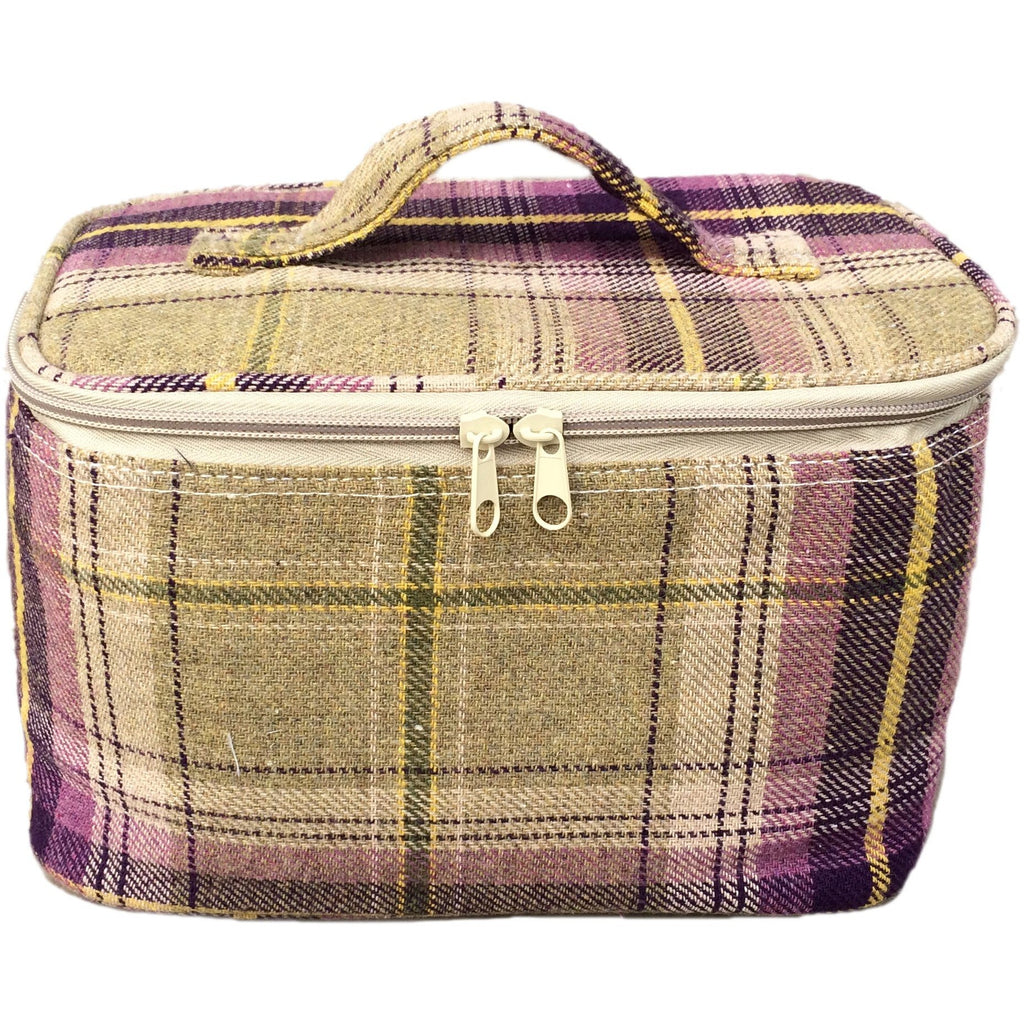 Purple Tweed Cooler Bag