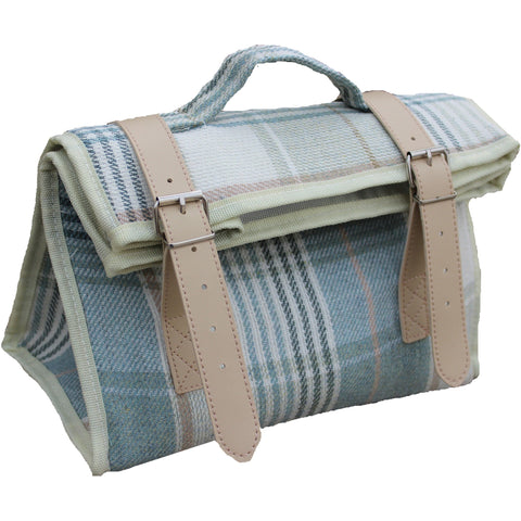 Blue and Cream Tweed Cooler Bag