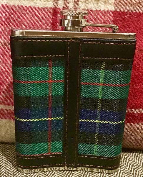 Wrapped Stainless Steel Hip Flasks