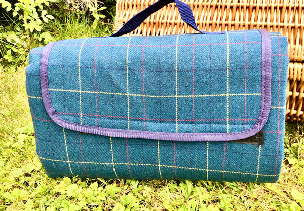 Tweed picnic rugs - waterproof backed