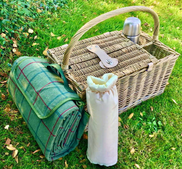 The Beaufort - a top handled fitted picnic hamper for 2
