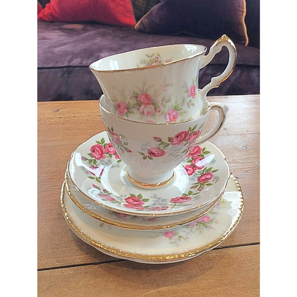 Fine bone china vintage english tea cups and saucers