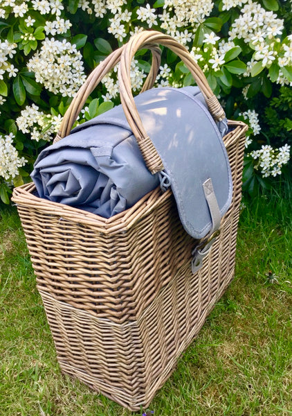 The City Slicker - Grey Chiller Basket And Picnic Blanket