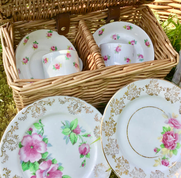 vintage china tea set