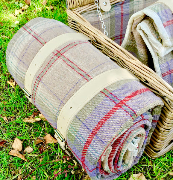 waterproof backed picnic rug