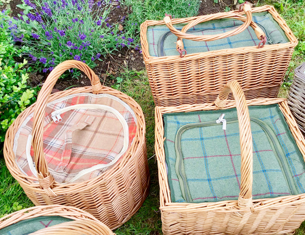 Autumn tweed round chiller basket