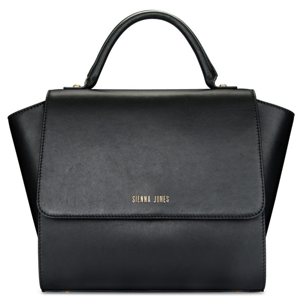 Classic Leather <BR/>Black Handbag