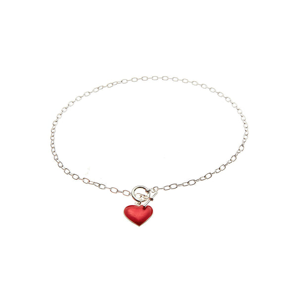 Red Heart Charm Necklace
