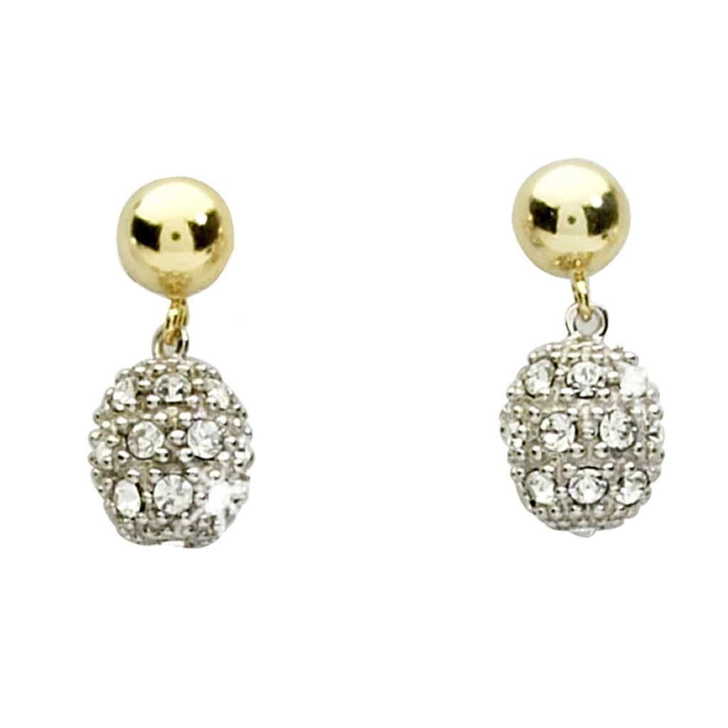 Crystal Pavé Ball Drop Earrings