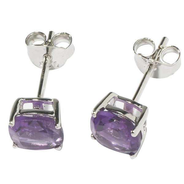 Amethyst Square Cut Earrings