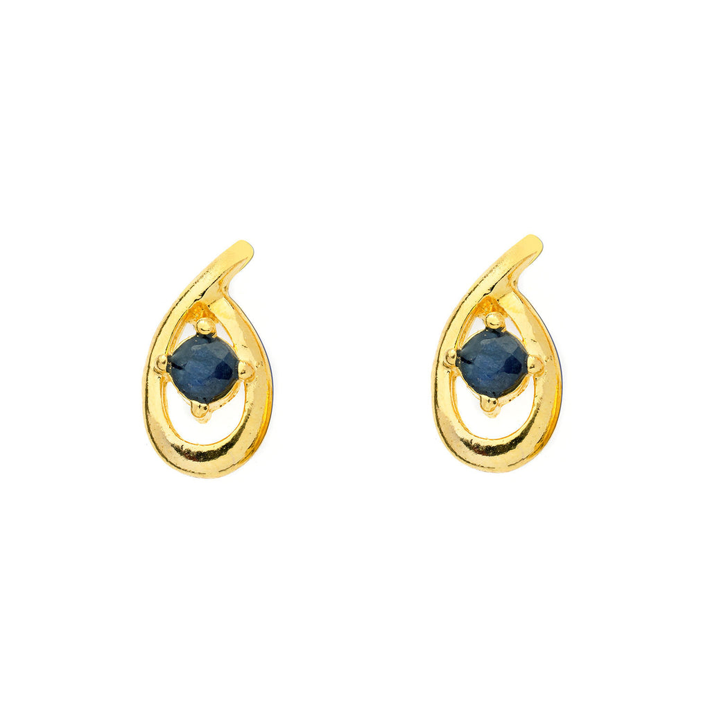 Sapphire Teardrop Earrings