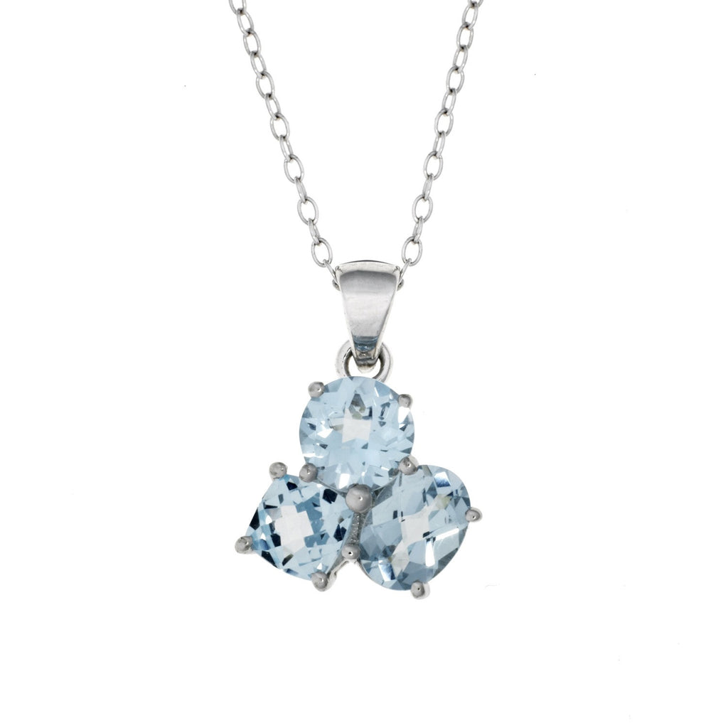 Sky Blue Topaz <BR/>Pendant and Earrings<br/>Set