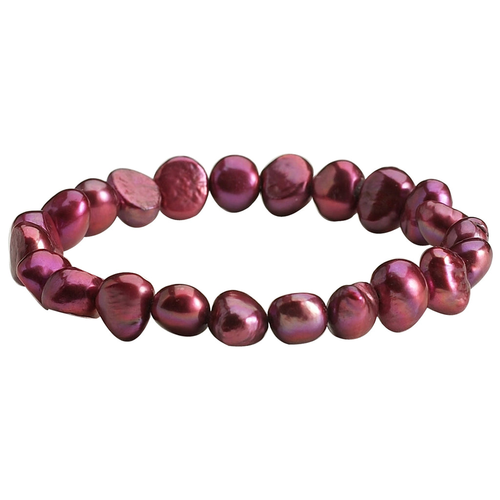 Cranberry Pearl <BR/>Necklace and <BR/>Bracelet with Free <BR/>Earrings Set
