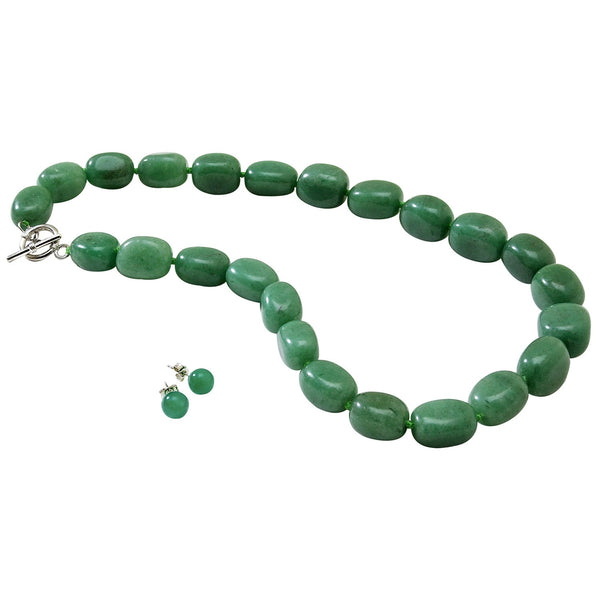 Aventurine Necklace and Earrings Set