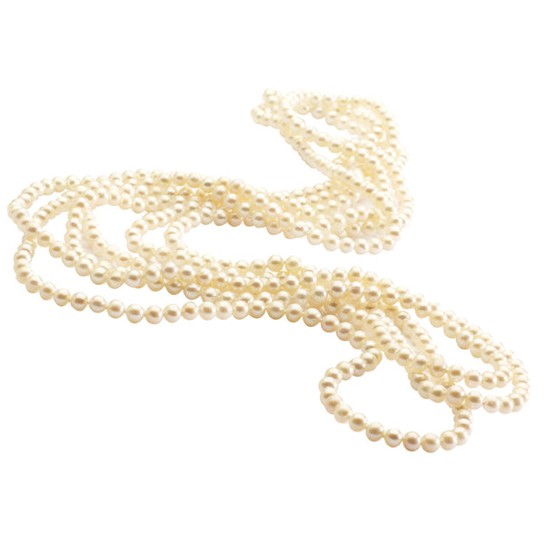 White Freshwater <BR/>Cultured Pearl Rope