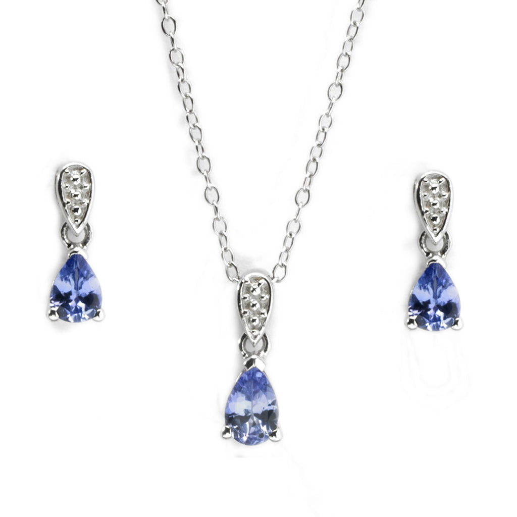 Tanzanite Drop Set