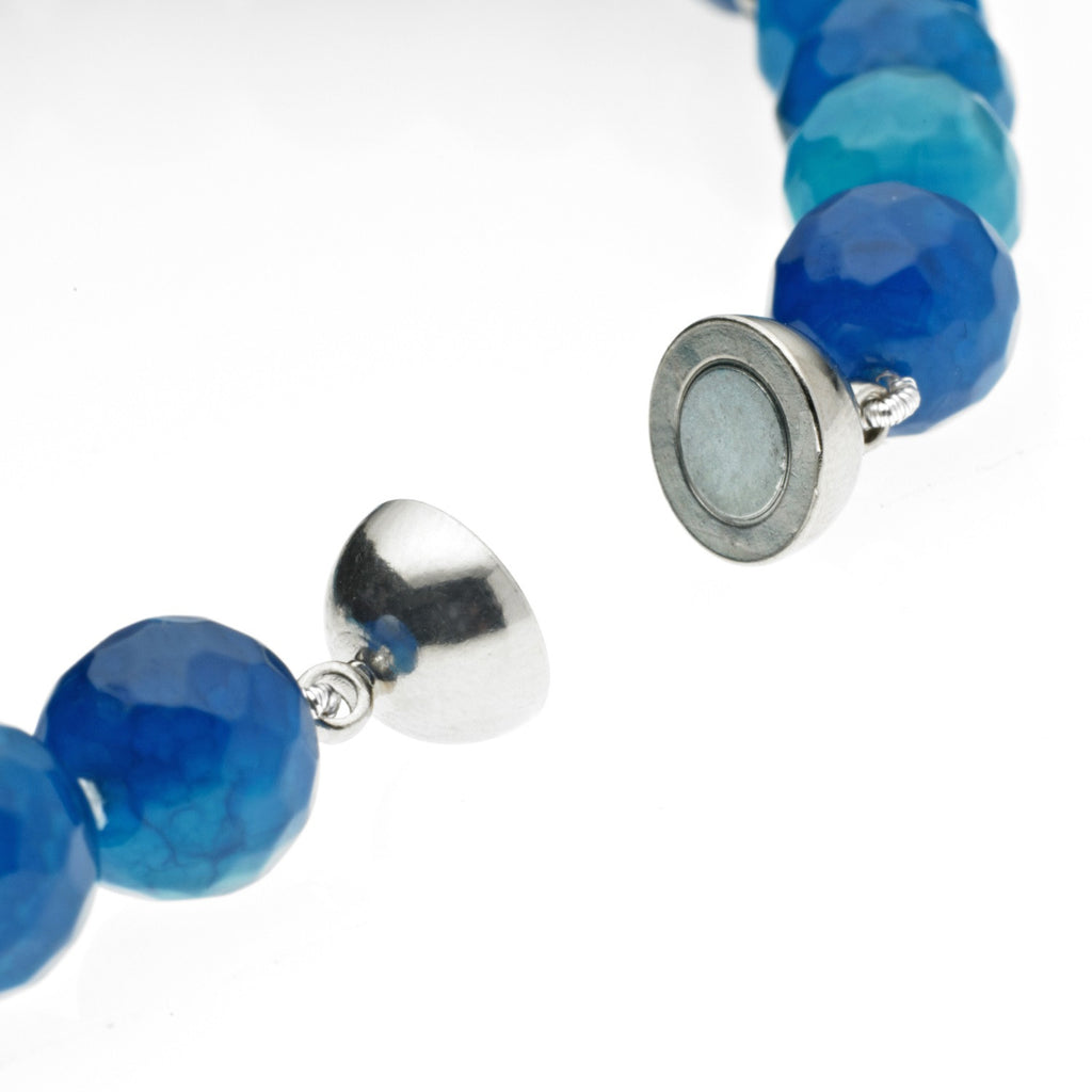 Blue Agate and Coin Pearl Necklace