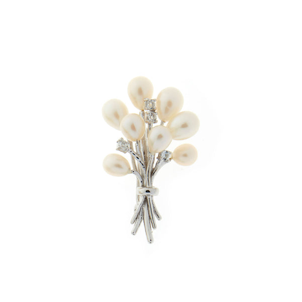 Bouquet of Pearls <BR/>Brooch