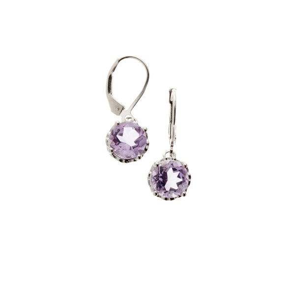 Pink Amethyst <BR/>Drop Earrings