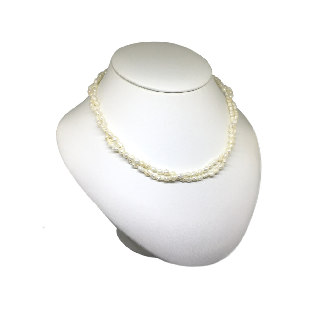 2 Row Seed Pearl Necklace