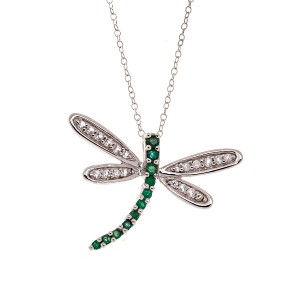 Emerald Dragonfly Necklace