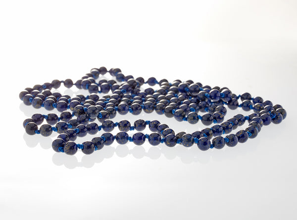 Lapis Lazuli Rope<br>Claspless Necklace