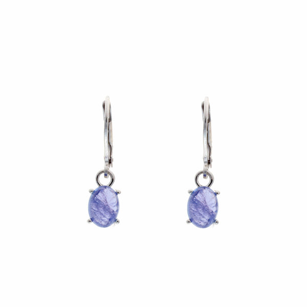 Tanzanite Cabuchon <BR/>Earrings
