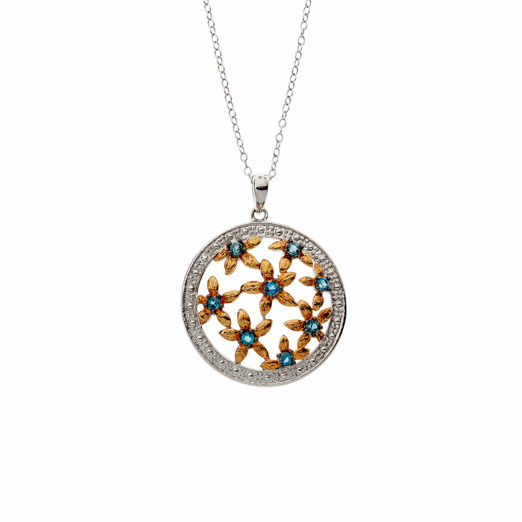 London Blue Floral<BR/>Topaz Pendant