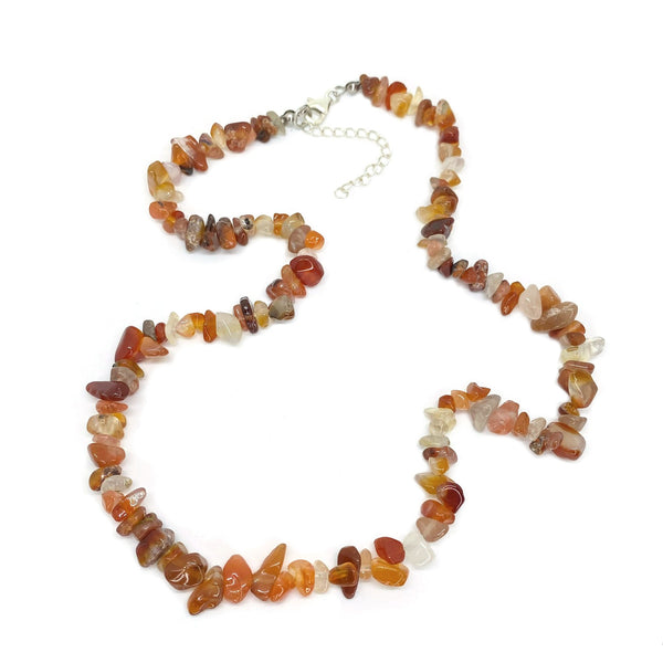 Red Agate Chip </BR>Necklace