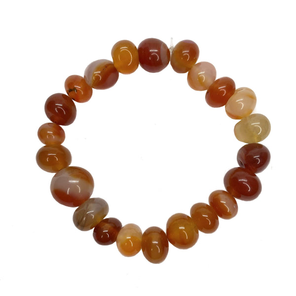 Red Agate Bead</BR>Bracelet