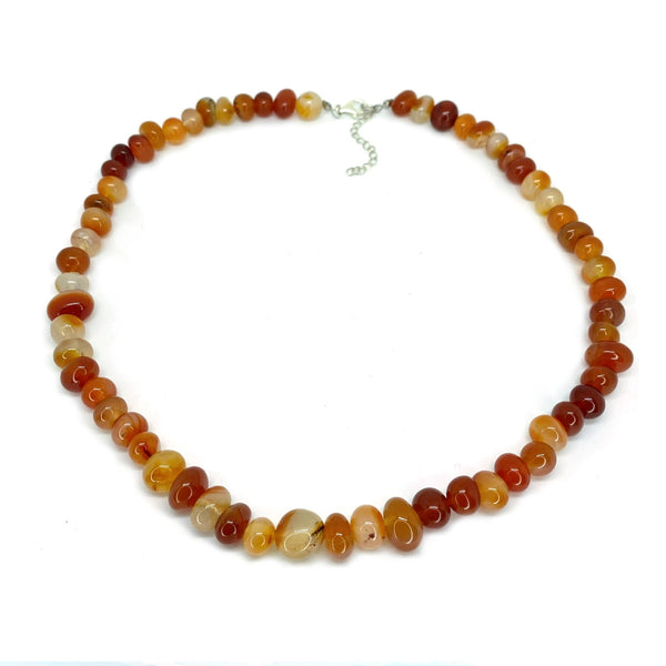 Red Agate Bead </BR>Necklace