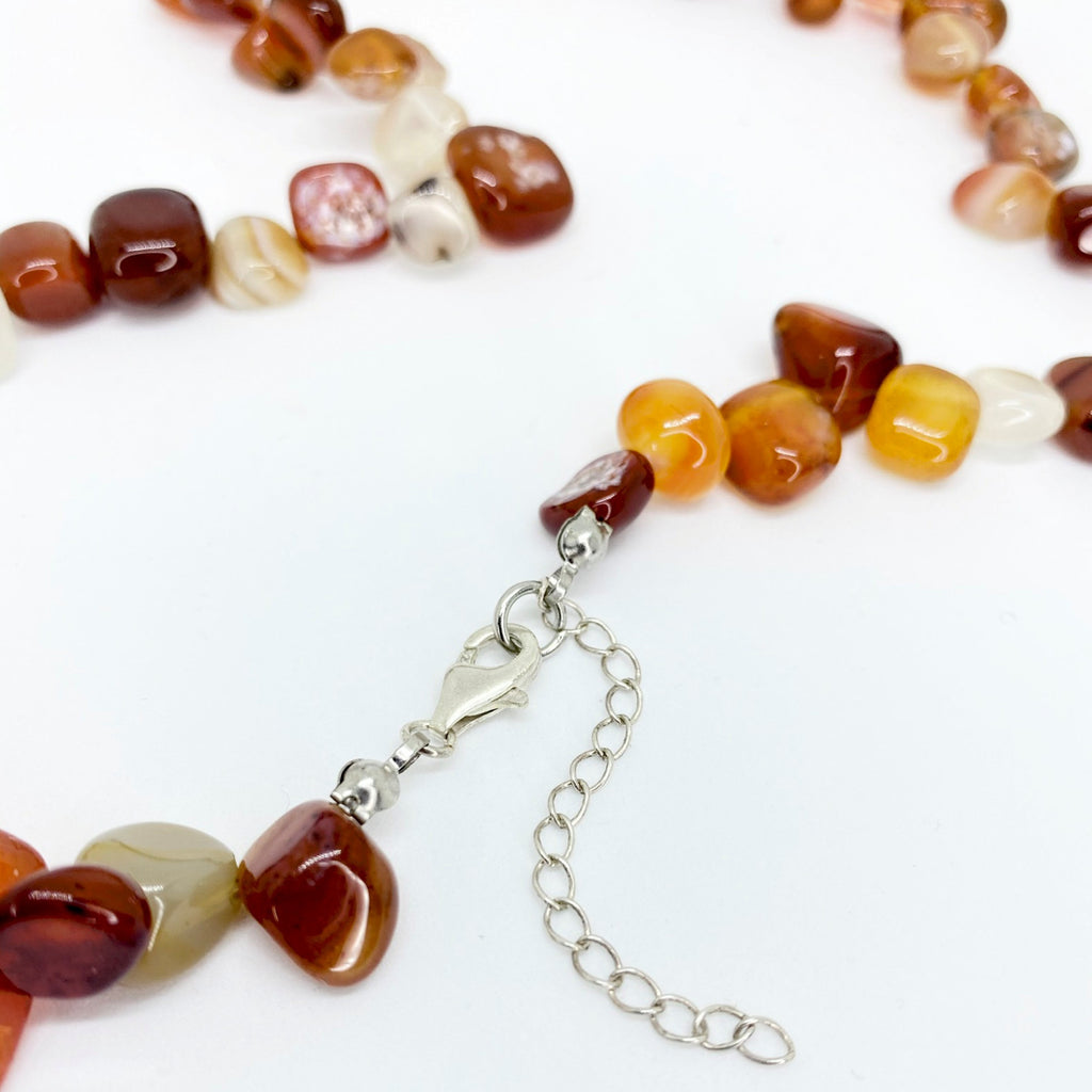 Red Agate Pear Shaped </BR>Bead Necklace