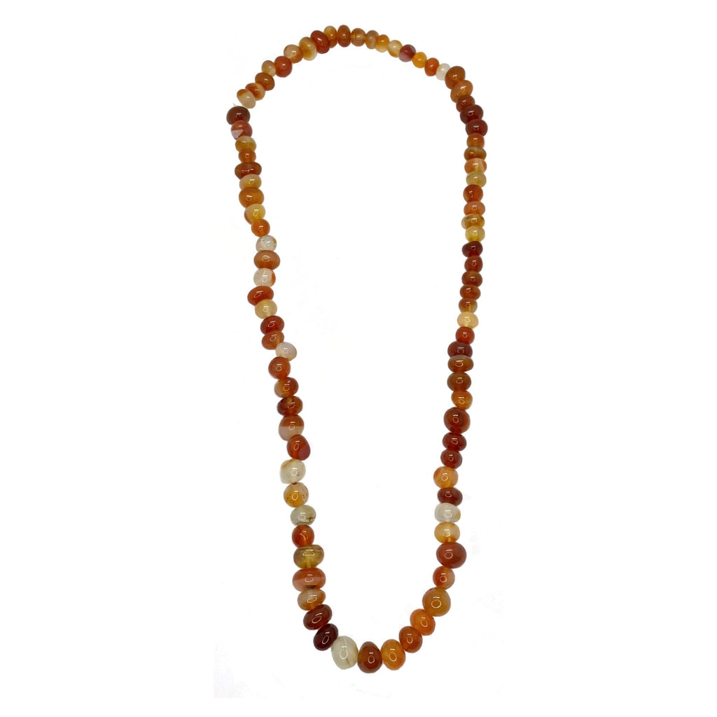 Red Agate Claspless </BR>Bead Necklace