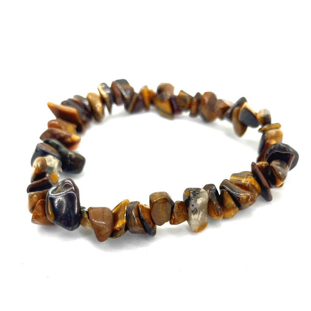 Tigers Eye Chip <br/>Elasticated Bracelet