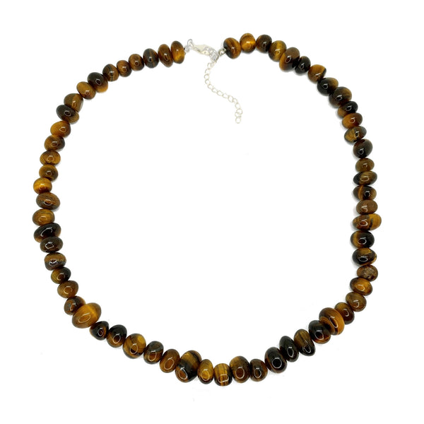 Tigers Eye Round <br/>Bead Necklace