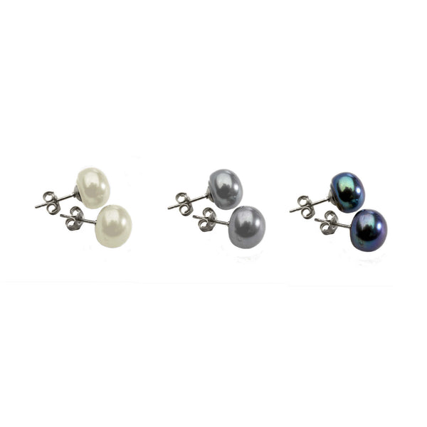 Trio of Pearl<BR/> Earrings