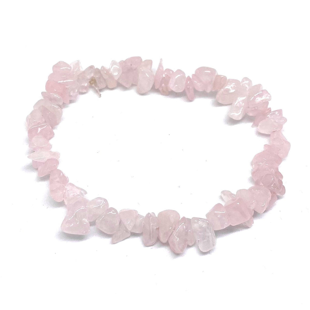 Rose Quartz Chip <br/>Elasticated Bracelet